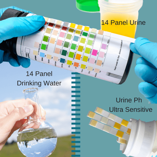 14 Panel Test Strips - Drinking Water and Urine